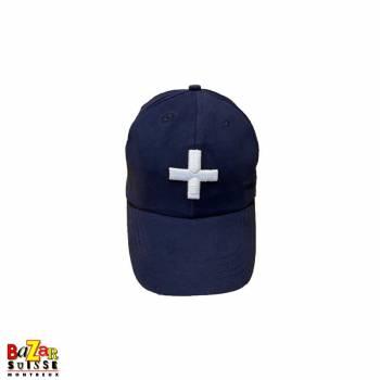 Swiss cross blue cap