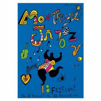 Poster Montreux Jazz Festival 1984