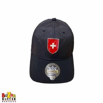 Black metal badge cap