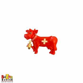 Aimant décoratif vache rouge