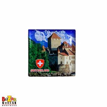 Decorative fridge magnet - Montreux/Chillon