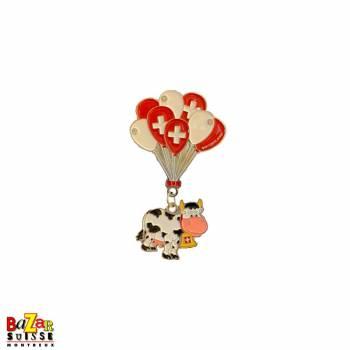 Aimant décoratif vache ballons