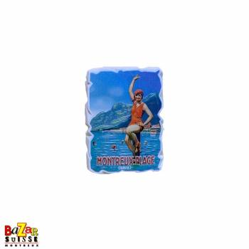 Decorative fridge magnet - Montreux plage