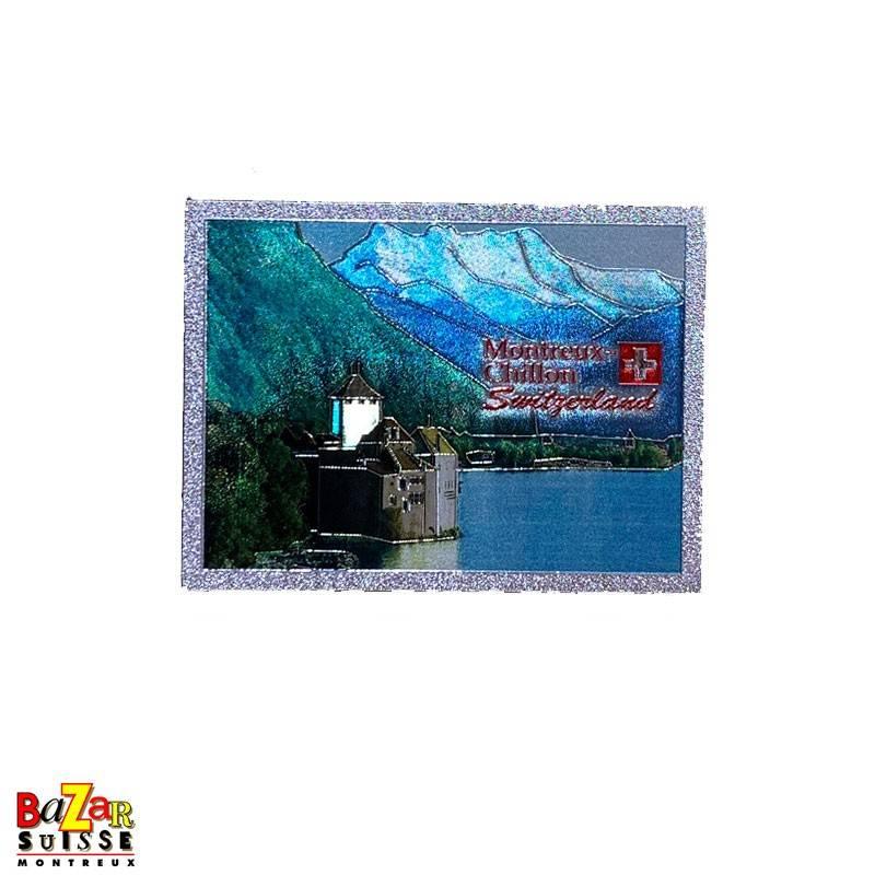 Decorative fridge magnet - Montreux/Chillon