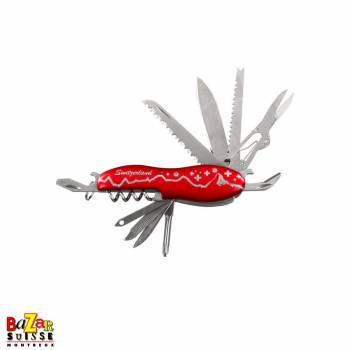 Couteau de poche multifonction - panorama rouge