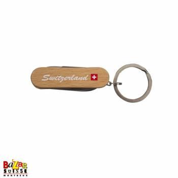 Porte-clés couteau en bois