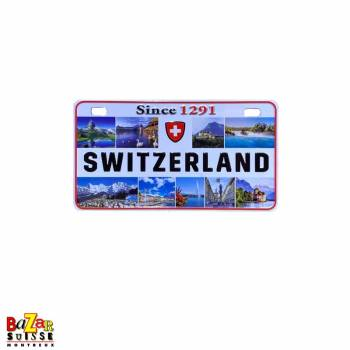 Decorative fridge magnet - license plate - Switzerland