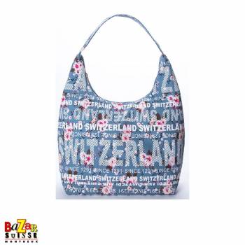 Robin Ruth shoulder bag - Switzerland flowers blue
