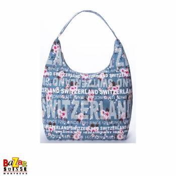 Robin Ruth shoulder bag - Switzerland flowers blue