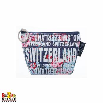 Robin Ruth coin bag - Switzerland flowers blue