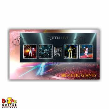 Timbres - Queen Live Miniature Sheet Cover