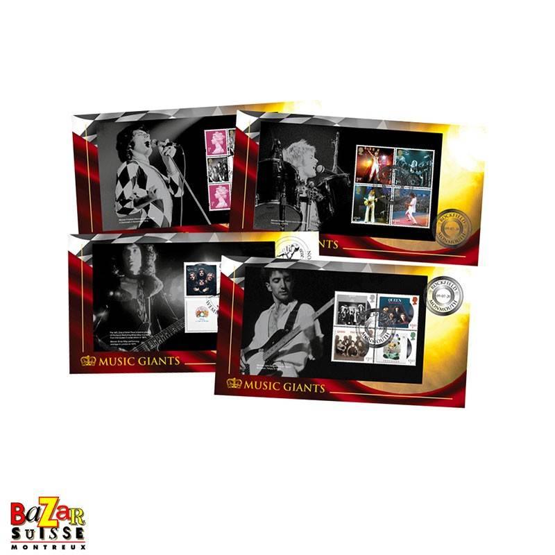 Stamps - Queen Prestige Booklet Set of 4 Covers