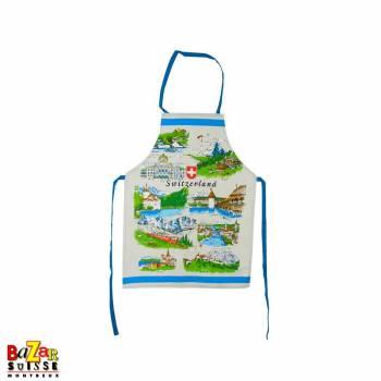 Kitchen apron - Swiss views
