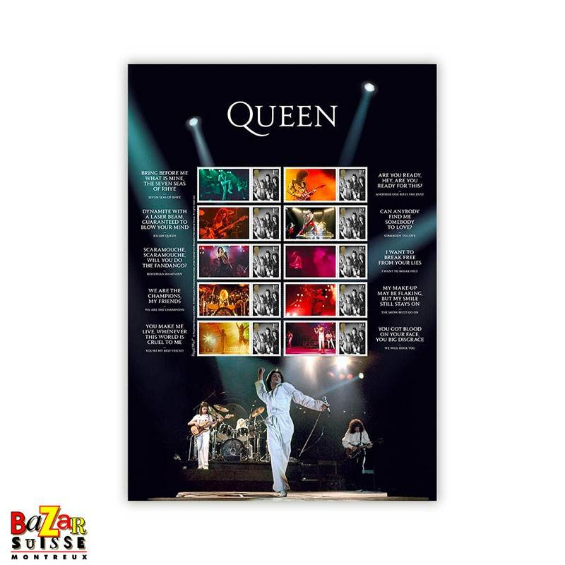 Stamps - Queen Live Collector's Sheet