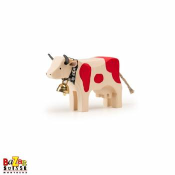 Red wooden cow - small