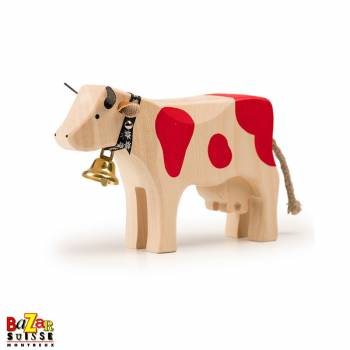 Red wooden cow - medium
