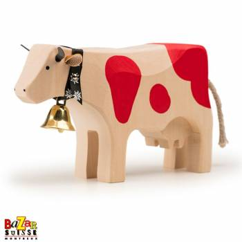 Red wooden cow - big