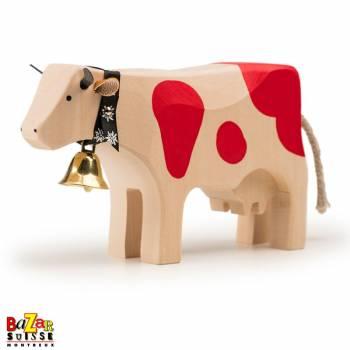 Vache en bois rouge - grande