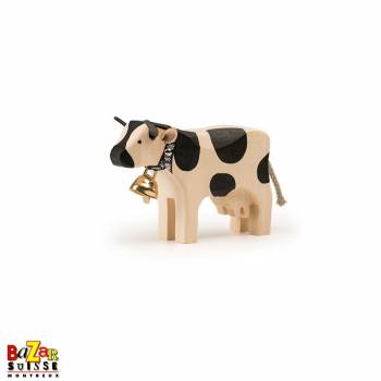 Black wooden cow - small