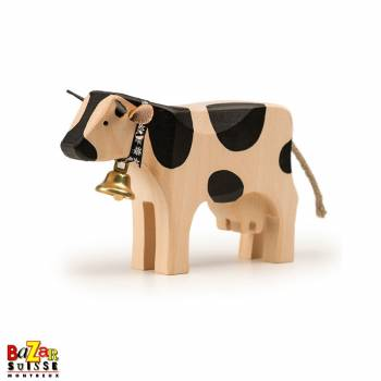 Black wooden cow - medium
