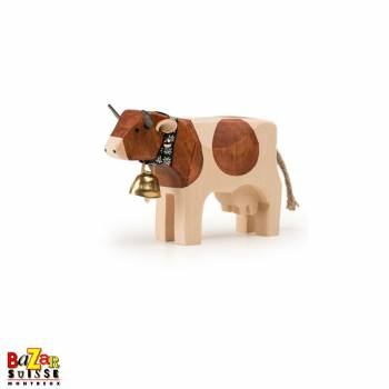 Brown wooden cow - small