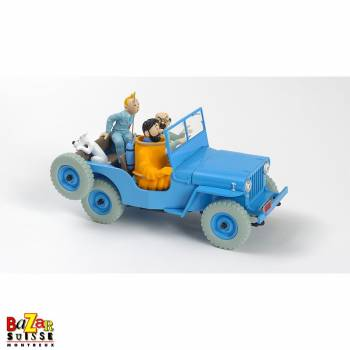 The Cars of Tintin - Blue Jeep Objective Moon 1/24