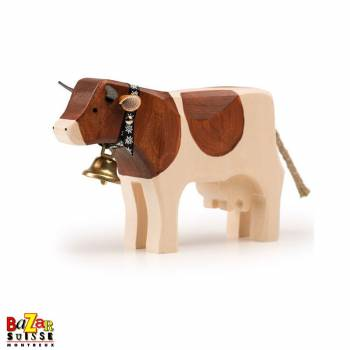 Brown wooden cow - medium