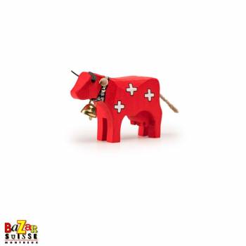 Swiss wooden cow - small