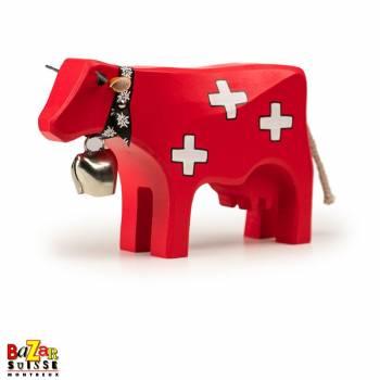 Vache en bois suisse - grande