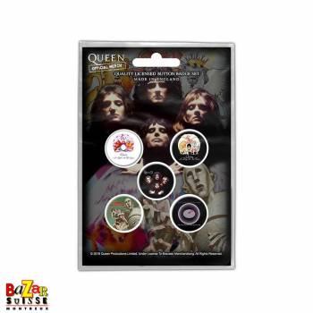 Set de 5 badge Queen - Early Albums