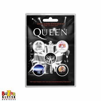 Set of 5 Queen button badges - Freddie