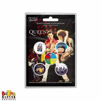 Set de 5 badges Queen - Later Albums