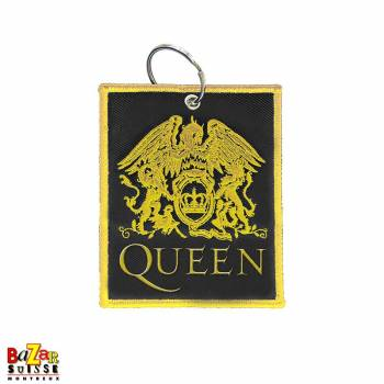 Queen Crest double sided patch keychain