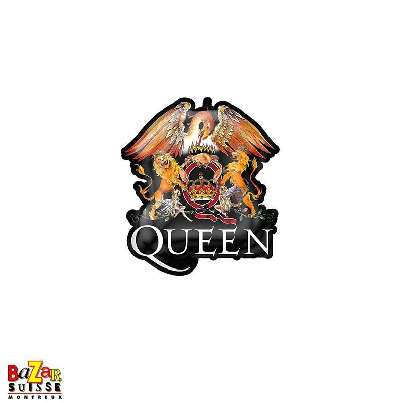 Queen Crest pin badge