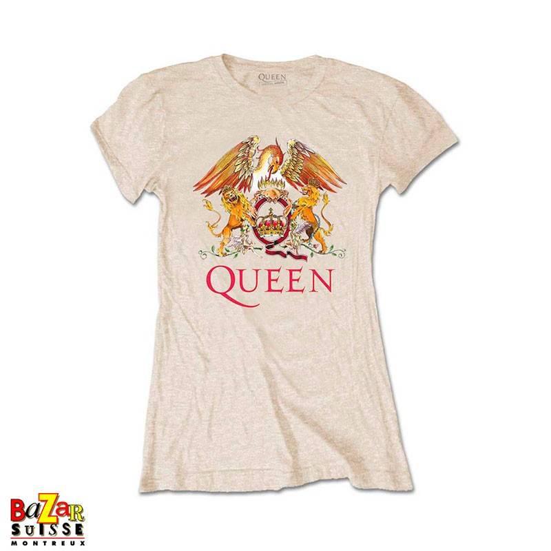 Woman T-shirt Queen Crest Sand