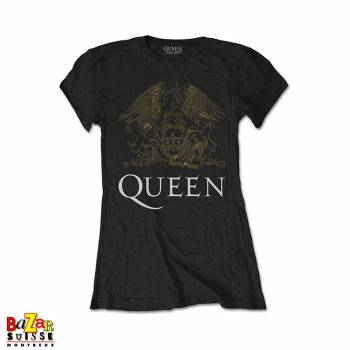 Woman T-shirt Queen Crest gold