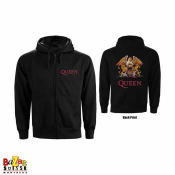 Ladies zipped Hoodie Queen Crest