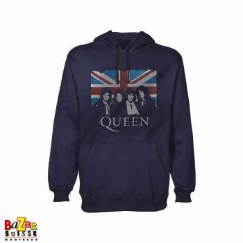 Pull à capuche Queen flag