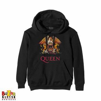 Pull à capuche Queen Crest noir