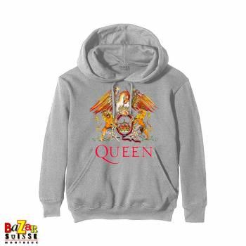 Pull à capuche Queen Crest gris