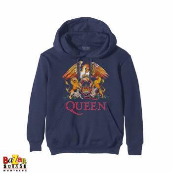 Pull à capuche Queen Crest navy