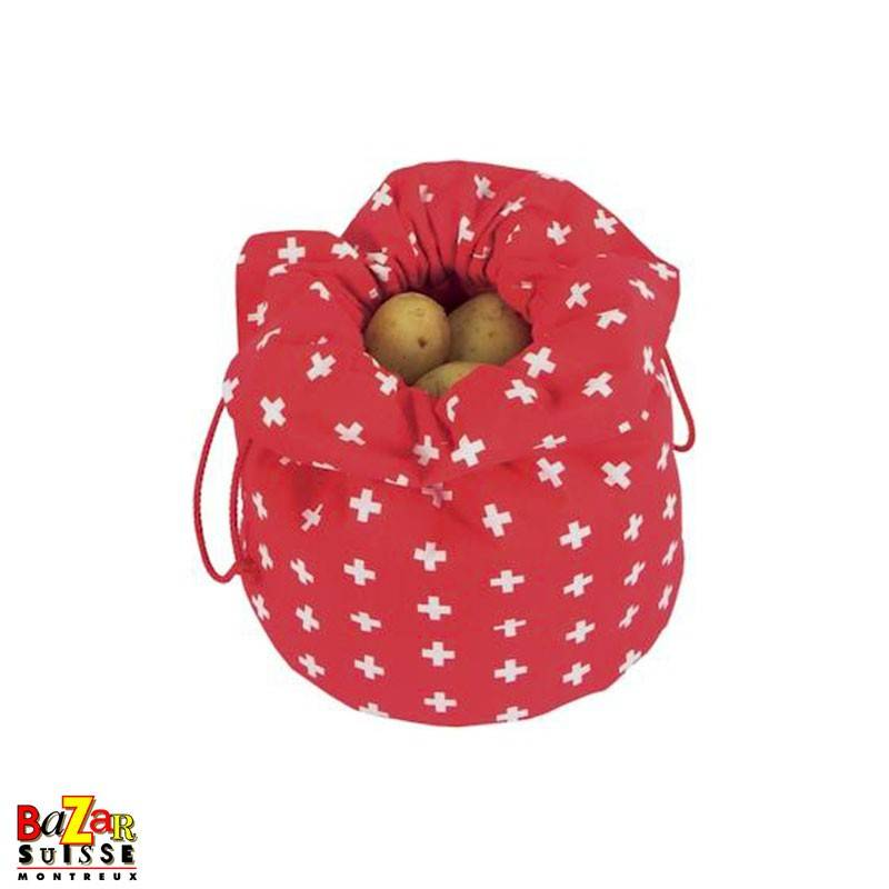 Sac à pommes de terre - croix suisse