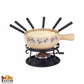 """ Gentian"" cheese fondue set"