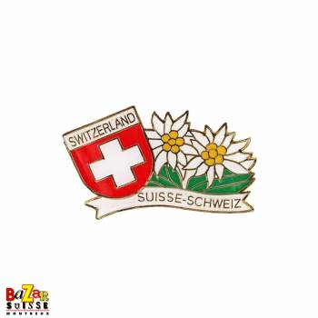 Pin's Edelweiss & Croix Suisse
