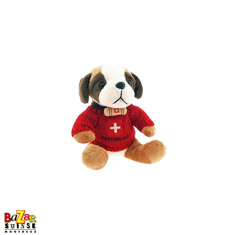 St-Bernard plush with red sweater