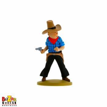 Figurine Tintin Cowboy