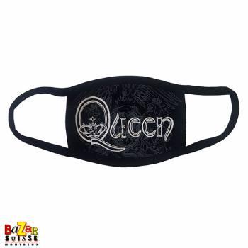 Masque en tissus Queen logo retro blanc