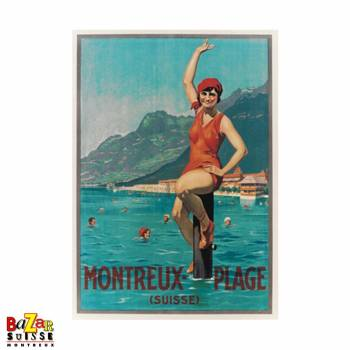 Poster Montreux beach