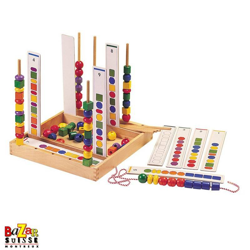 Fancy String Beads - wooden games