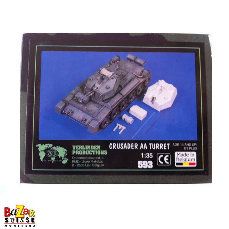 Crusader AA Turret - Verlinden Figurine